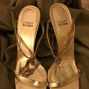Gold Stuart Weitzman heels
